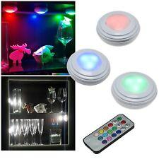 3+1 RGB-W touch Led Unterbau-Leuchten mit Fernbedienung & Batterie Möbel-Lampe