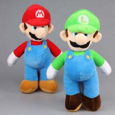 "2 pcs/Lot Super Mario Bros. Mario& Luigi Plush Toy Soft Dolls Kids Gift 14"""
