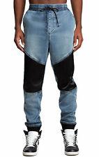 True Religion Brand Jeans Men's Denim Contrast Cuffed Jogger Pants - 101609