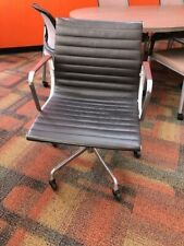 Herman Miller Eames Aluminum Group Chair Leather Management Chair 8 Available