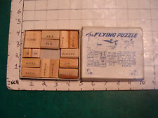 vintage  Puzzle: The FLYING PUZZLE complete but worn box