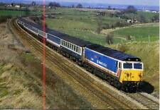 Diesel Locomotive Class 50 50048 DAUNTLESS Upton Scudamore 1987 photo postcard