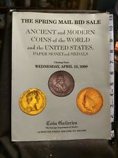 Ancient  Modern Coins of the World & US Paper Money and Medals April 12, 2000