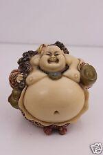 Japanese Smiling SATSUMA KUTANI Buddha  Signed on Back & Under Weighs 900g