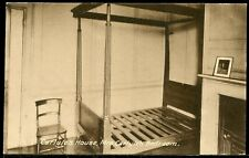 #481 Old B&W RP Postcard - Carlyle's House - Mrs Carlyle's Bedroom