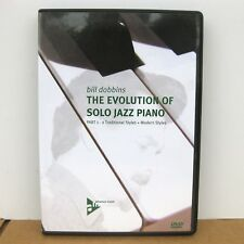 Evolution Of Solo Jazz Piano Part 1 - 2 Traditional / Modern Styles DVD Dobbins