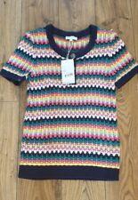 Womens Warehouse Stitch Stripe Button Jumper Bnwt Rrp £46 Size Uk 12