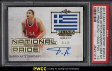 2015 Leaf Legends National Pride Gold Foil Giannis Antetokounmpo AUTO /10 PSA 10