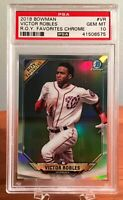 2018 Bowman Chrome VICTOR ROBLES ROY Favorites ROOKIE RC PSA 10 GEM MINT