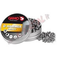 3 CONF PIOMBINI GAMO HAMMER ENERGY 1G DIABOLO CAL 4.5mm CARABINA LUNGHE DISTANZE