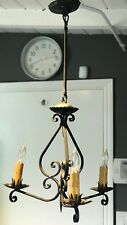 Spanish California Casa Wrought Iron Chandelier