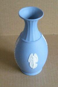 Wedgwood Jasperware Blue  Angel Vase