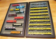 (12) N Scale Glass Top Train Cases  Each case hold up to 10 passenger cars!