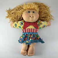 VTG Xavier Signature Cabbage Patch Kid Doll Hasbro First Edition 1990 Girl Dress