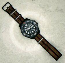 Casio Men's Dive Watch with James Bond Nylon Nato Strap (MRW-200H-1BVES)