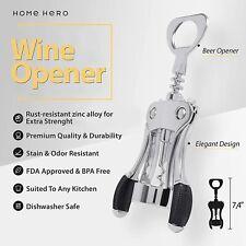 Home Hero Wine Opener Bottle Wing Corkscrew Stainless Steel Ergonomic
