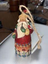 Jim Shore Heartwood Creek by Enesco 2002 Christmas Ornament Santa With Pipe