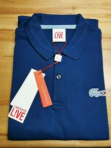 Lacoste Live Navy Polo - Size 4 (Mens Large) New With Tags