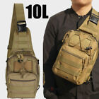 10L Men Single Shoulder Bag, Tactical Sling Chest , Assault Pack Messenger Tan