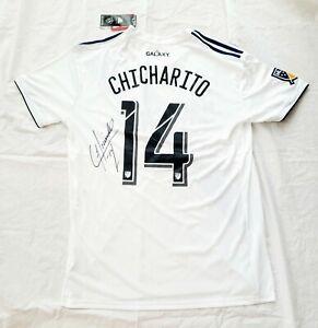 2020 Javier Chicharito Hernandez Signed LA GALAXY Soccer Jersey HOME MLS *PROOF