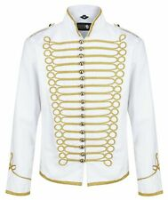 Ro Rox White Hussar Parade Jacket Mens Military Army Drummer Steampunk Size 2XL