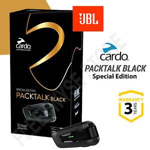 Cardo Packtalk Black Special Edition Communication System Single - JBL Speakers
