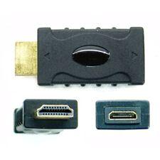 HDMI (standard size) A plug / male to HDMI mini C socket / female adapter