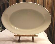 """Dresden White Granite Oval Dinner Plate Platter 12"""" x 8"""" Restaurant Quality"""