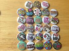 I Love  The 80's Button Badges