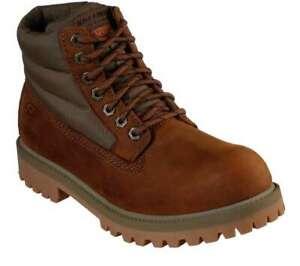Skechers Men's Sergeants Verno [ Dark Brown ] Boots - 65838-CDB