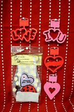 Set 5 Valentine LOVE Baking PARTY Bags Cookie CUTTERS HEART RED Ladybug GIFT
