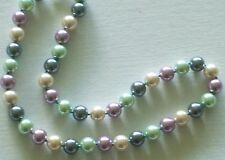 """10MM-Multicolor #215 AAA South Sea Shell Pearl 18"""" Necklace & Gift Bag"""