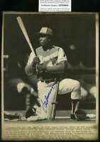 Hank Aaron Psa Dna Coa Autograph 8x10 1974 Wire Photo  Hand Signed Authentic