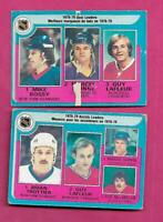 2 X 1979-80 OPC CANADIENS GUY LAFLEUR  LEADERS CARD (INV# C2402)