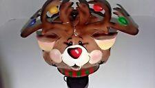 """Metal """"Reindeer"""" Votive Candle Holder"""
