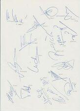 Real Madrid Copa del Rey ganadores 1993 Raro Firmada A Mano Hoja De Tamaño A4 X 18 firmas