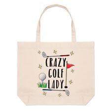 Crazy Golf Mujer Grande Playa Bolsa - Divertido mamá de la Madre Día Shopper