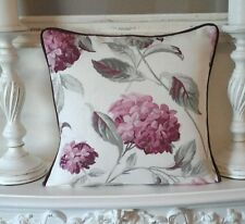 """LAURA ASHLEY HYDRANGEA BERRY CUSHION COVER 16"""" PIPED  BERRY"""
