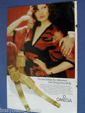 1975 OMEGA watch advertisement for the St. Honore ladies watch, European advert