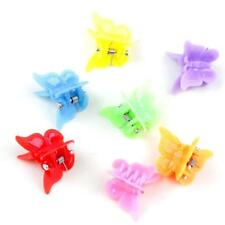 25pcs Mixed Color Plastic Butterfly Mini Hair Claw Clips Clamp for Kids B9T9