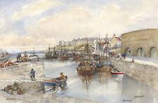 Tom Macdonald Seahouses Harbour Mounted Print