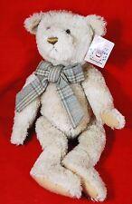 "Bearington Collection 18"" BOBBY 1215 BEAR PLUSH - Plaid Bow Tie"