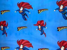 "Dc Comics Superman Fabric - Cotton Blend - L38"" x W62"" inches"