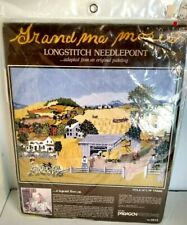 Vintage 1983 Grandma Moses In Harvest Time Paragon Needlecraft kit 0215 New
