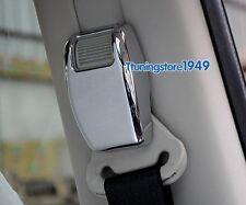 Chrome B pillar Seat safty belt adjust cover trim frame For jeep Patriot 07-2016