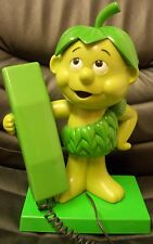 Vintage Green Giant Sprout Telephone, Works! 1984!