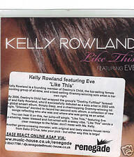 """KELLY ROWLAND UK PROMO LIKE THIS FEAT. EVE - 2 VERSIONS """""""