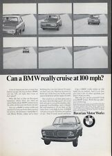 "1969 BMW Bavaria Motor Works Sports Coupe ""Really Cruise at 100 mph""  PRINT AD"