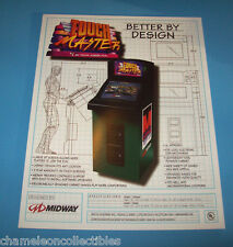 Midway TOUCH MASTER Original 1998 NOS Video Arcade Game Promo Sales Flyer Adv.