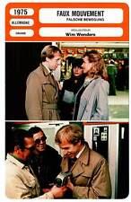 FICHE CINEMA : FAUX MOUVEMENT - Vogler,Schygulla,Wenders 1975 The Wrong Move